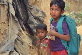 Arvioiden mukaan jopa 60 prosenttia rohingya-pakolaisista on lapsia.