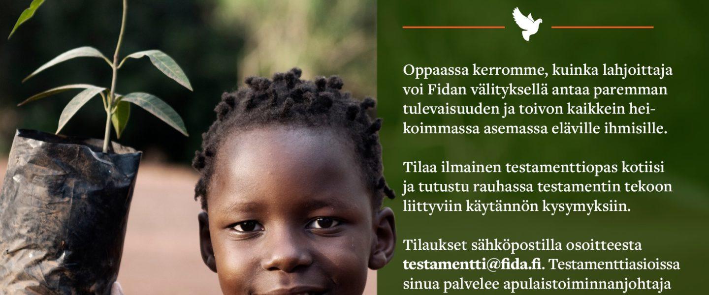 Testamenttilahjoitus - ohjeet kuvana