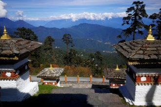 Temppeli vuoristossa Bhutanissa.